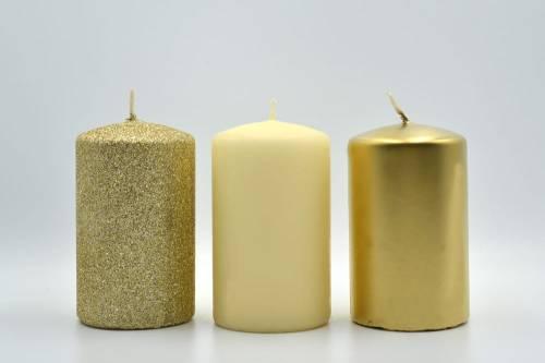 świeca 3 Pak Złota